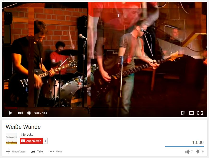 Weiße Wände Youtube1000